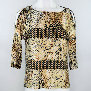 Cable & Gauge Cold Shoulder Womens Top New